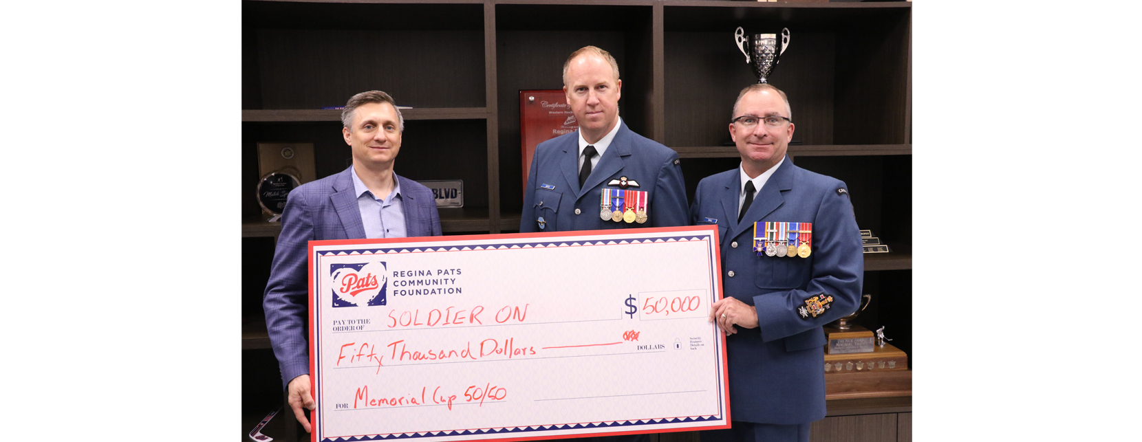 Soldier On program receives $50,000 from The Regina Pats Community Foundation  Image