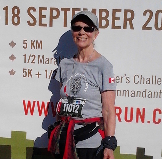 Unstoppable at 75, Ann Bourke registers for sixth Canada Army Run