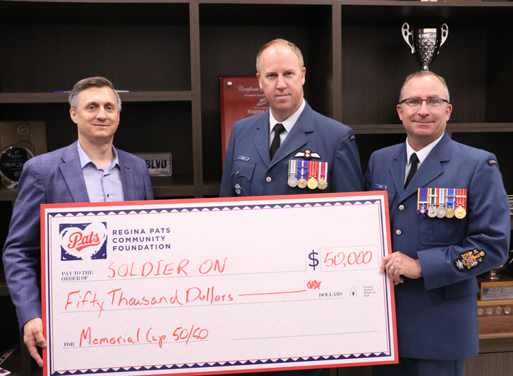Soldier On program receives $50,000 from The Regina Pats Community Foundation