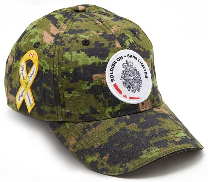 Support Our Troops / Soldier On Ball Cap