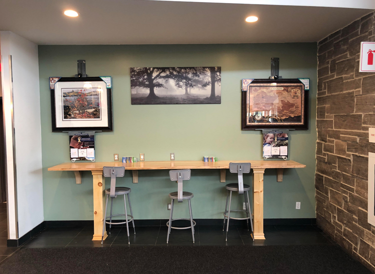 Art Easels at ONroute – an easy way to give back to the troops